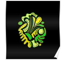 Green and yellow abstract spot Poster