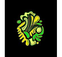 Green and yellow abstract spot Photographic Print