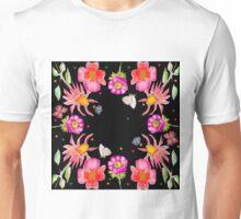 black flowers Unisex T-Shirt