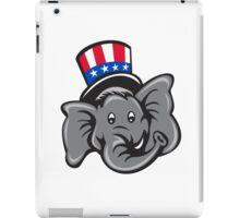 Republican Elephant Mascot Head Top Hat Cartoon iPad Case/Skin