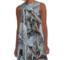 Frozen Leaves A-Line Dress