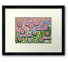 Bars and Dots on a Lawn Framed Print