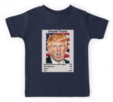 Donald Trump Top Trumps USA President Candidate Card 2016 Kids Tee