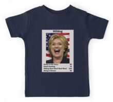 Hilary Hilldog Clinton Top Trumps USA President Candidate Card 2016 Kids Tee
