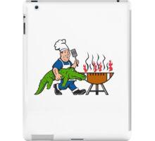 Chef Alligator Spatula BBQ Grill Cartoon iPad Case/Skin