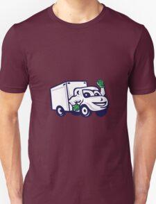 Delivery Van Waving Cartoon Unisex T-Shirt