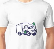 Delivery Van Waving Cartoon Unisex T-Shirt