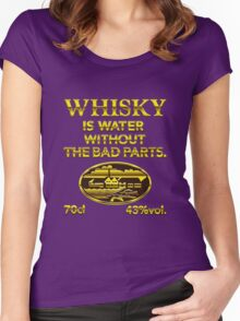 Whisky is water without the bad parts - das Original Women's Fitted Scoop T-Shirt