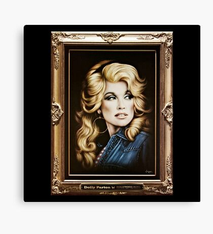 Parton Photograph Framed Canvas Print