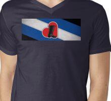Bootblack Pride Banner Mens V-Neck T-Shirt