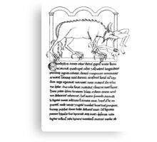 Medieval Bestiary monster Canvas Print