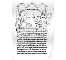 Medieval Bestiary monster Poster