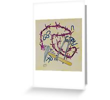 Stillife with barbed wire Greeting Card