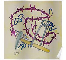 Stillife with barbed wire Poster