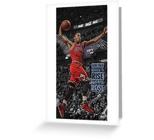 Derrick Rose - I was Told to Rise Greeting Card
