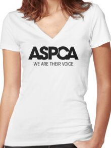 a_s_p_c_a Women's Fitted V-Neck T-Shirt