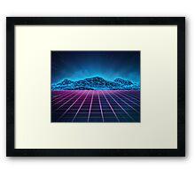 Sci-fi space Framed Print