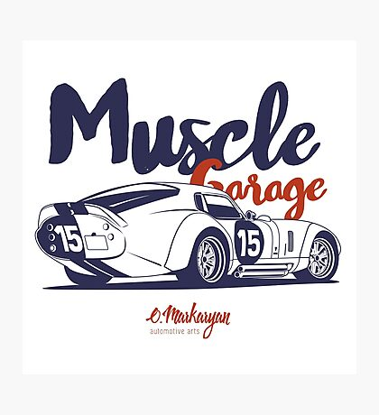 Muscle garage. Shelby Cobra Daytona Photographic Print