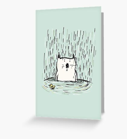 Soggy Cat Greeting Card