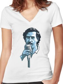 Pablo Escobar 2 Women's Fitted V-Neck T-Shirt