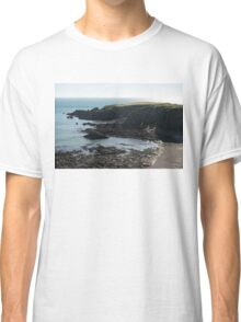 Rough Coast - Morning Light on a Sea Cliff in Scotland Classic T-Shirt