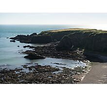 Rough Coast - Morning Light on a Sea Cliff in Scotland Photographic Print
