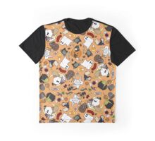 Spoopy Kitten Halloween Full Color Graphic T-Shirt