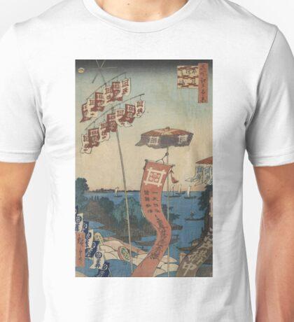 Kanasugi Bridge at Shibaura - Hiroshige Ando - 1857 Unisex T-Shirt