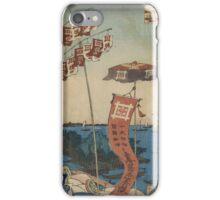 Kanasugi Bridge at Shibaura - Hiroshige Ando - 1857 iPhone Case/Skin