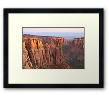 Canyons and Monoliths Framed Print