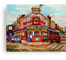 GENO'S STEAKHOUSE PHILADELPHIA PAINTINGS Canvas Print