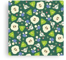 Grass type Pokepattern! Canvas Print