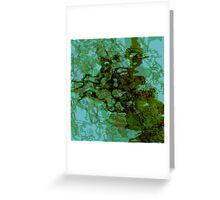 20160929 green oblivion no. 3 Greeting Card