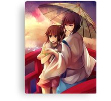 Chihiro and Haku  Canvas Print