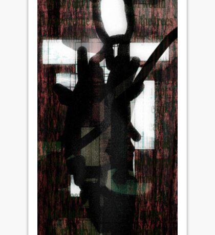 Abstract Slender Man Sticker