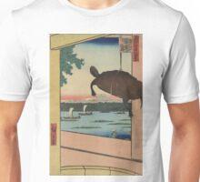 Mannen Bridge, Fukagawa district - Hiroshige Ando - 1857 Unisex T-Shirt