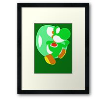 Super Smash Bros Yoshi Framed Print