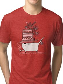 Cup of Tea Cat Tri-blend T-Shirt