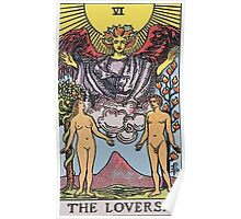 Tarot Card : The lovers Poster