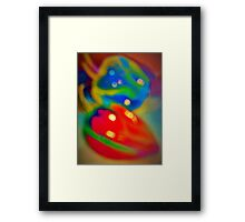 Dreamy peppers abstract Framed Print