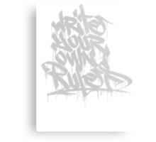 Write Your Own Rules Metal Print