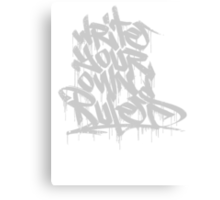 Write Your Own Rules Canvas Print