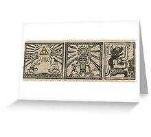 Zelda Wind Waker Scrolls Greeting Card