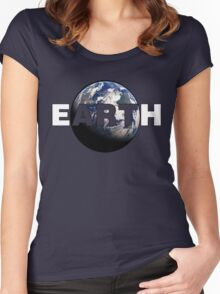 EARTH ART Women's Fitted Scoop T-Shirt