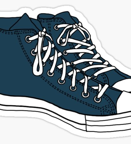 Tardis Blue Converse Sticker