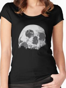 Skull optic illusion Women's Fitted Scoop T-Shirt