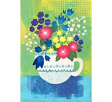 bouquet in a teacup Photographic Print
