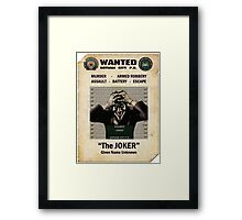 Joker - Gotham's Most Wanted Framed Print