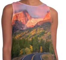 Fall Sunrise in Rocky Mountain National Park Contrast Tank