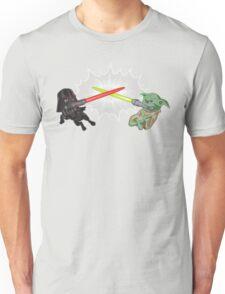 Dark vs. Light: Told with Pugs Unisex T-Shirt